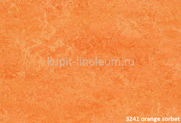 Forbo Marmoleum Real 3241 orange sorbet.