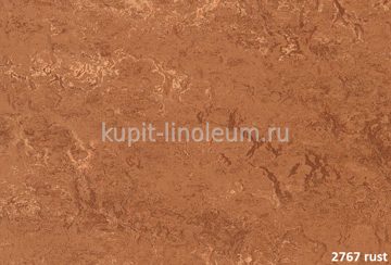 Forbo Marmoleum Real 2767 rust.