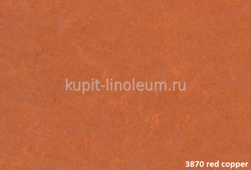 Forbo Marmoleum Fresco 3870 red copper.